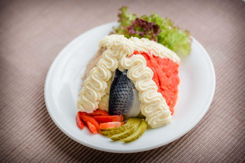 Abbildung von Fischsalat