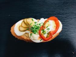 Abbildung von Ei-Scheiben Sandwich
