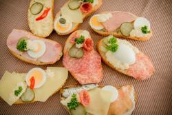 Abbildung von Sandwiches gemischte Sorten ohne Fisch