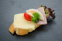 Abbildung von Schinken-Käse Brötchen