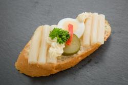 Abbildung von Spargel Sandwich